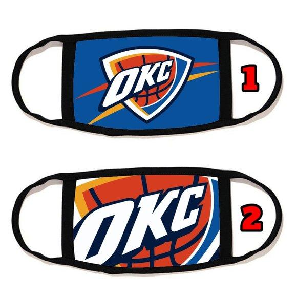 2 PACKS Oklahoma City Thunder face mask face cover